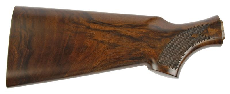 Stock, 12 Ga., Diamond Cut Checkered Satin Finish Walnut w/o Recoil Pad