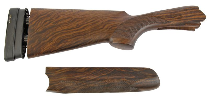 Stock & Forend Set, 12 Ga., RH, 38/60 Drop, Sporting, Cut Ckrd Walnut Oil Finish