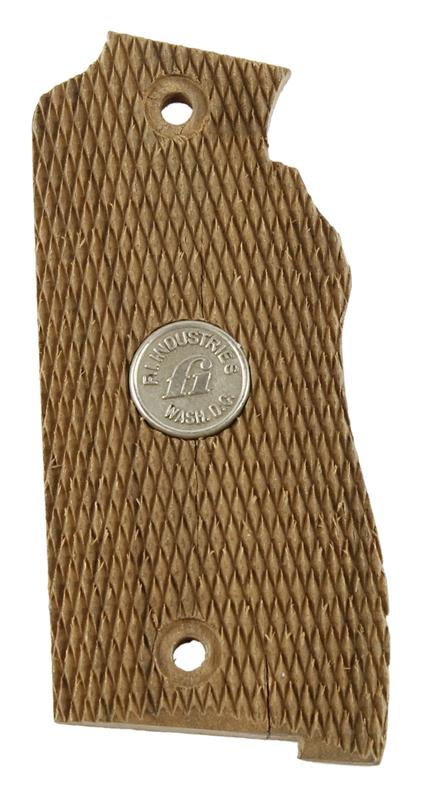 Grip, Left Side, Checkered Walnut w/FI Medallion, New Old Stock Original