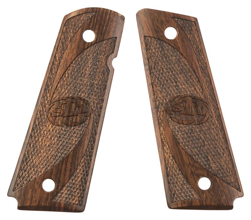 Grips, Full Size, Thin Wall Style, Checkered Rosewood w/Screws, New