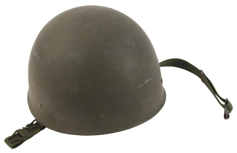 Swedish M37-65 Helmet, Gray Steel w/o Sticker, Very Good Condition