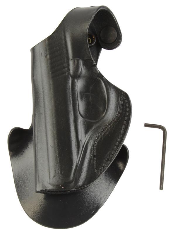 Holster, Viper, LH, Black Leather w/ Paddle, New (DeSantis)