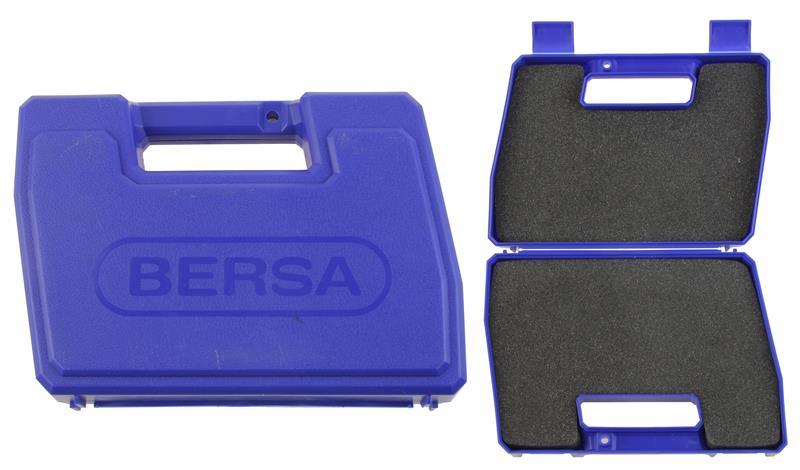 Gun Case, Blue Plastic w/Foam Inserts, Marked Bersa, Used Factory