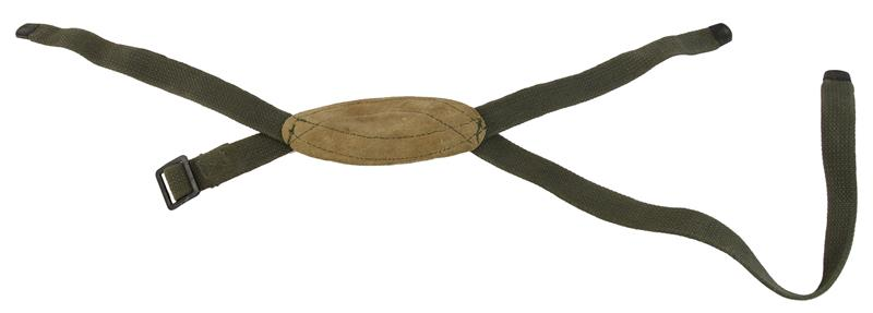 Chin Strap, Canvas w/Leather Chin Cup, Used