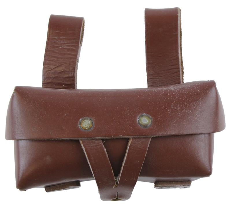 Ammo Belt Pouch, Leather, Romanian Mfg., Used