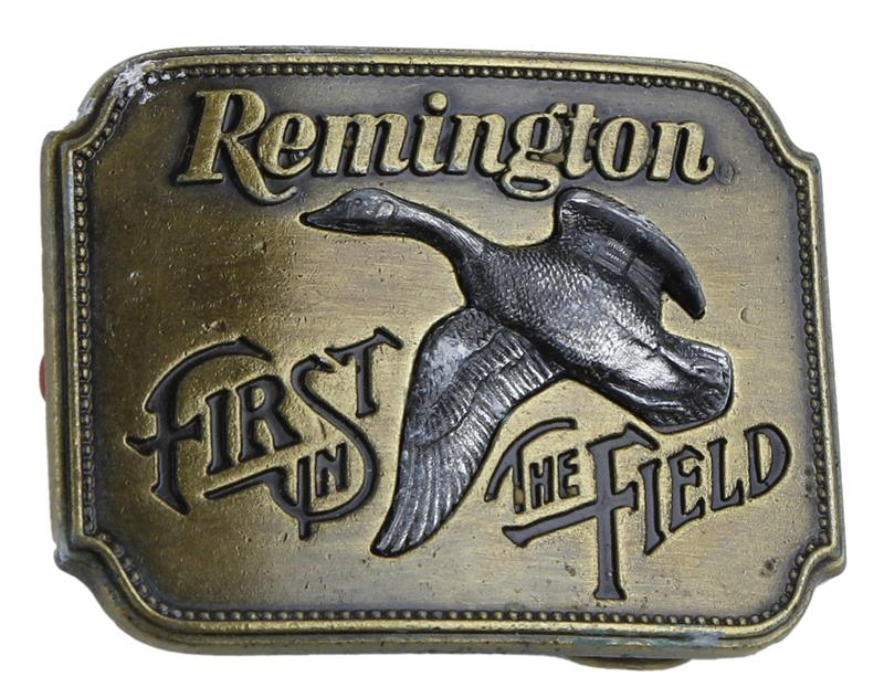 Belt Buckle, First in the Field, Canada Goose, Fits Belts Up To 1 3/4