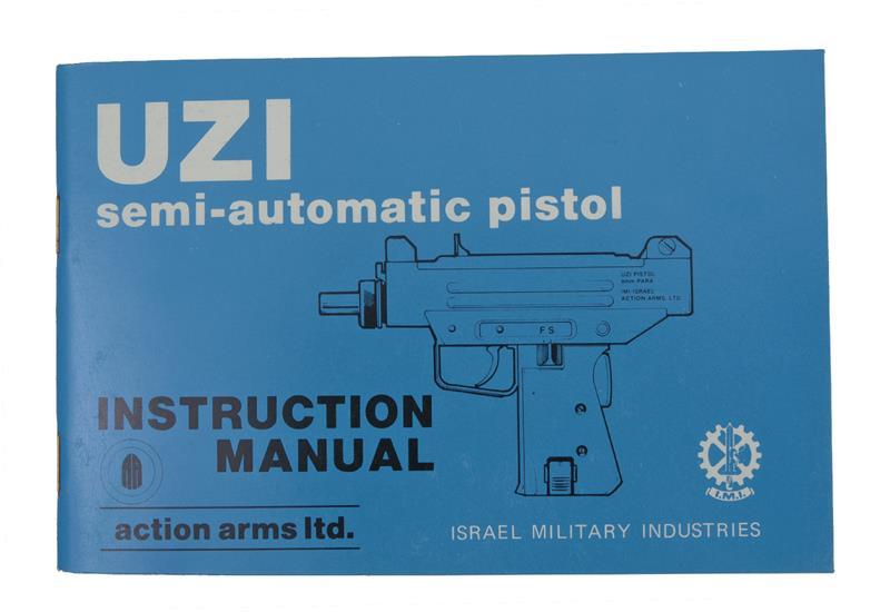 UZI 9mm And 45 Semi-Auto Pistol Instruction Manual
