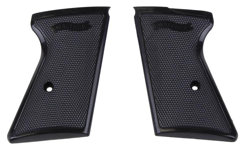 Grips, Checkered Black Plastic w/Walther Banner. FEG Mfg Under Walther License