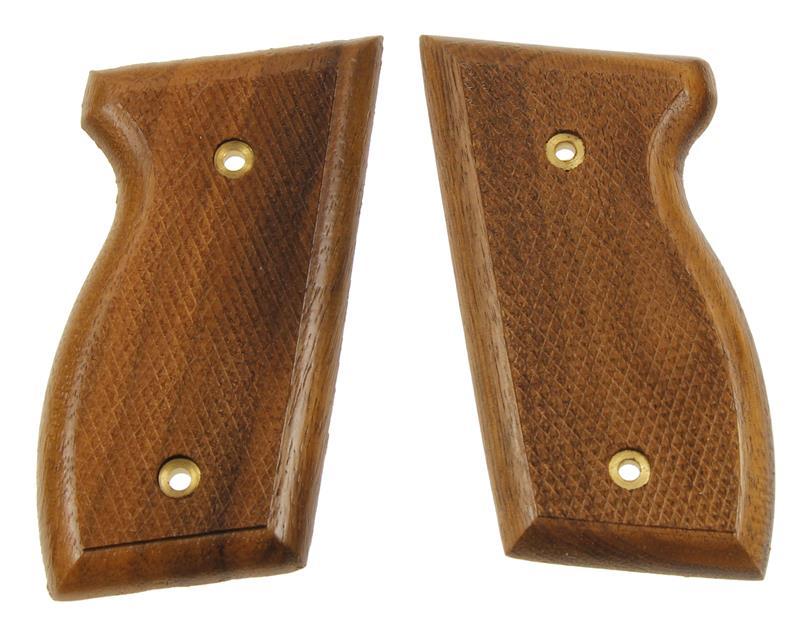 Grips, 2 Screw Type, Checkered Walnut