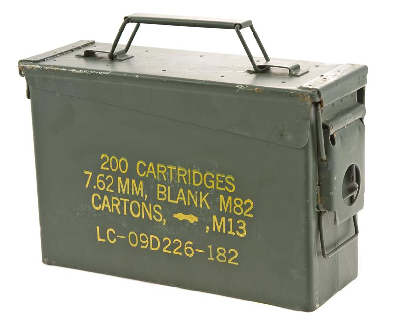 Ammo Can, .30 Cal Olive Drab Steel Can w/Hinged Latch Lid. 3-3/4