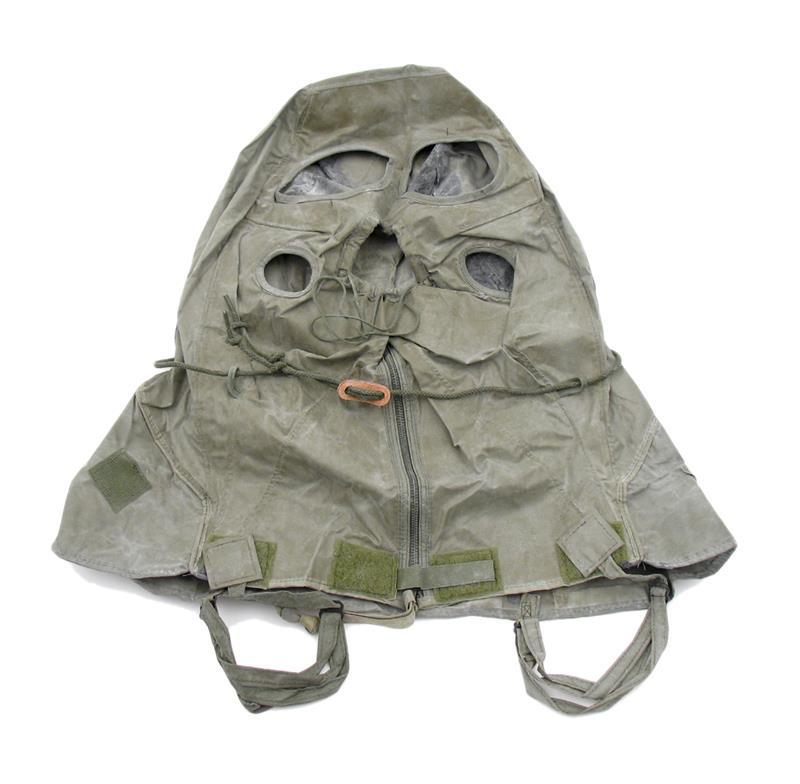 Chemical Hood,Style I-Military Surplus,Designed For Gas Masks. Rubberized Canvas