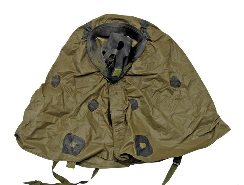 Chemical Hood,Style II-Military Surplus,Designed For Gas Masks,Rubberized Canvas