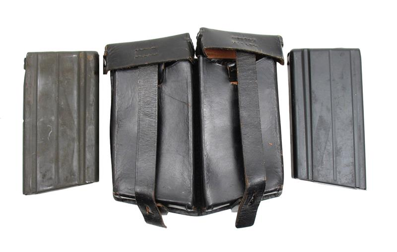 Magazine & Pouch Set, FN FAL - 2 New Cond   308 Cal  Mags w/ Black