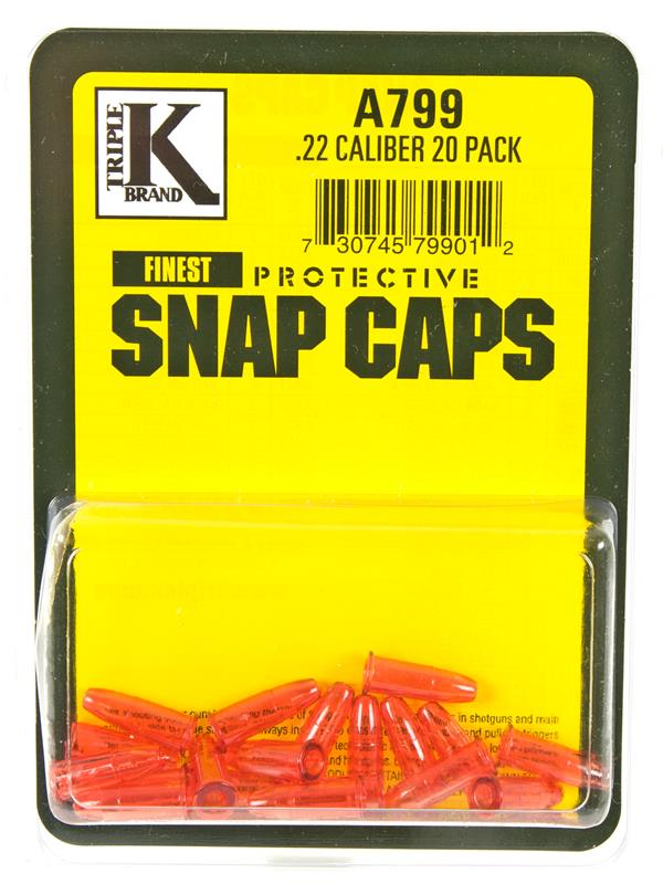 Deluxe Protective Snap Caps, .22 Short - Pack Of 20