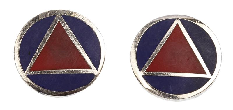 Grip Medallions, New Reproduction (Set of 2)