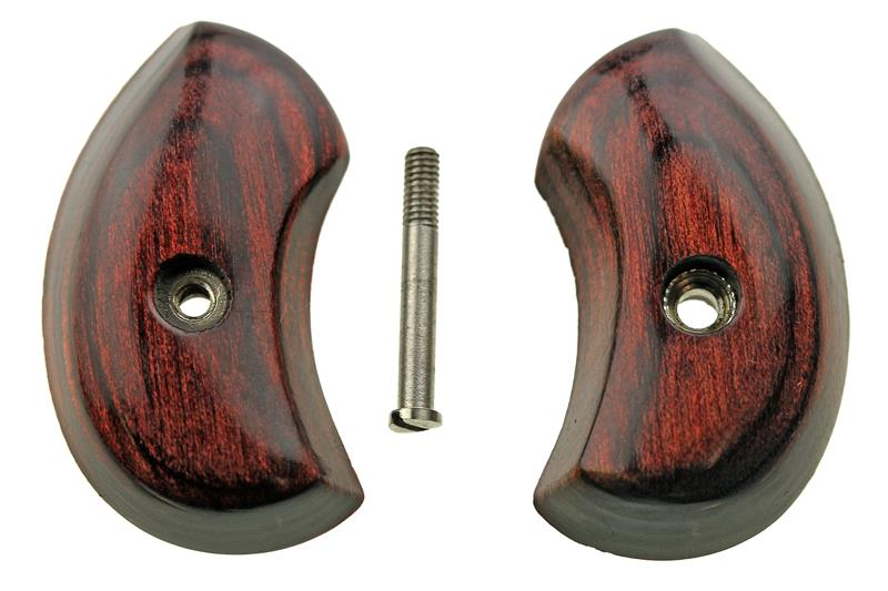Grip Set, Laminated Wood, New Factory Original (w/ Screw)