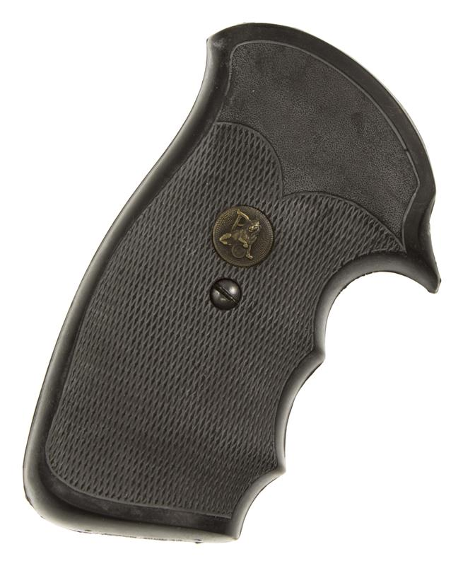 Grips, Round Butt, Gripper Combat Pachmayr, Closed Backstrap w/Medallion