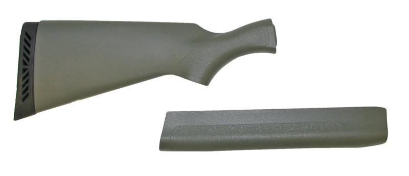 Stock & Forend Set, 12 Ga., New, Factory Original. Green Synthetic