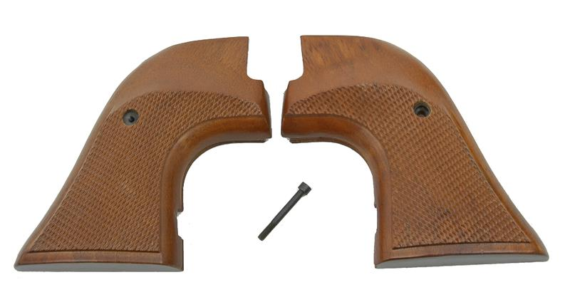 Grips, Target, Walnut, New Reproduction (Extends Below Frame, Thumb Swells)
