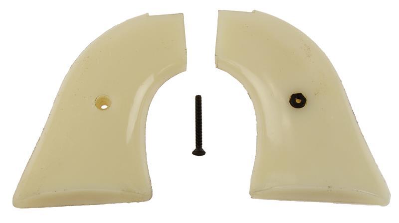 Grips, White Plastic, Used, Original
