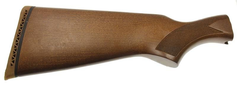 Stock, Checkered Hardwood w/ Vented Recoil Pad & Wlnt Stained Finish