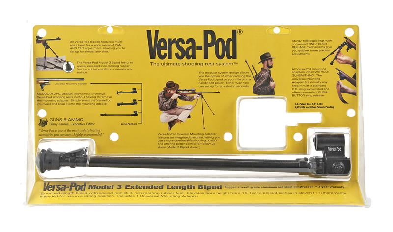 Versa-Pod Model 3 Bipod w/ Universal Adaptor