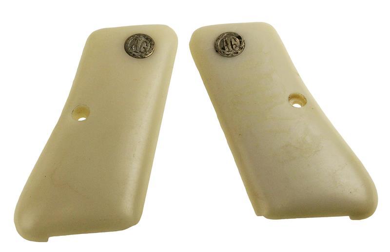 Grips, .32 & .380 Cal., Pearl White, w/ Shield