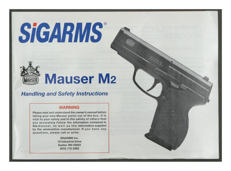 sigarms mauser m2 factory owners manual gun parts corp