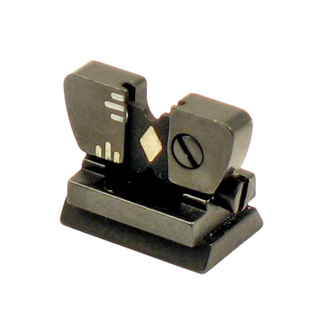 Rear Sight, Adjustable Folding Leaf,69W Flat Top,.400