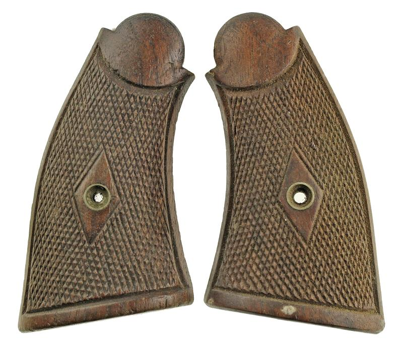 Grips, Square Butt, Old Style, Service, Checkered (w/o Medallion)