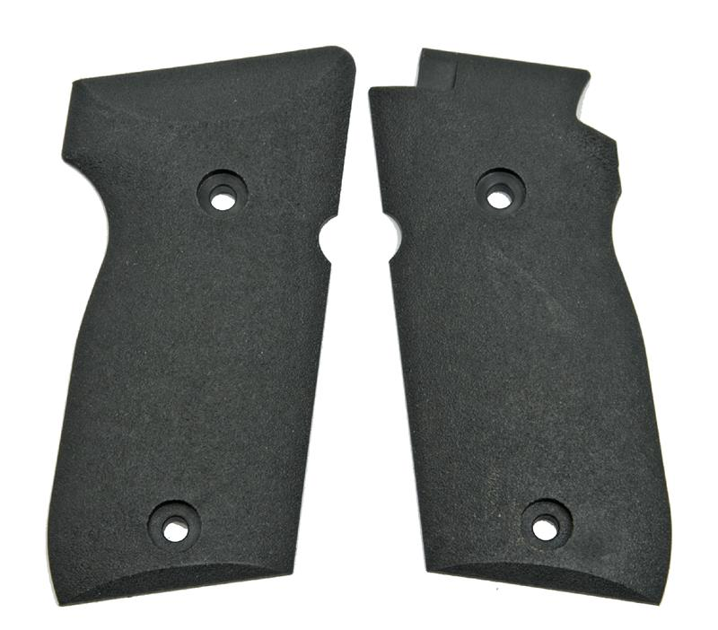 Grips, Black Plastic, Plain w/ Textured Finish