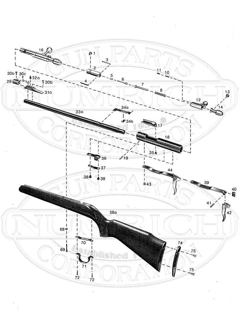 Anschutz Gun Parts Numrich 1911assemblydiagram Printable Schematics Exploded 1388