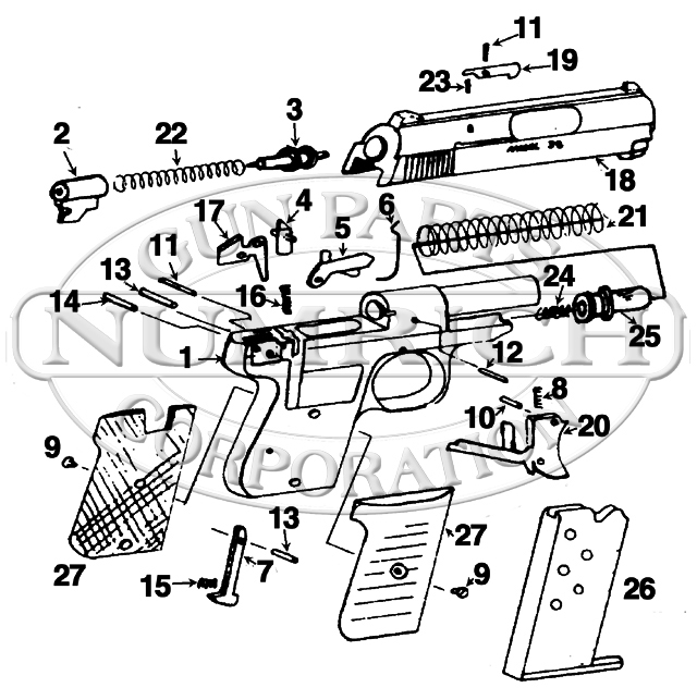 jennings 9mm parts schematic