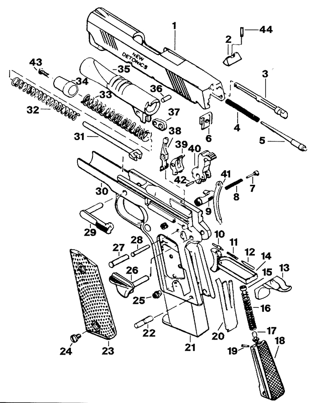 Uzi Parts Schematic