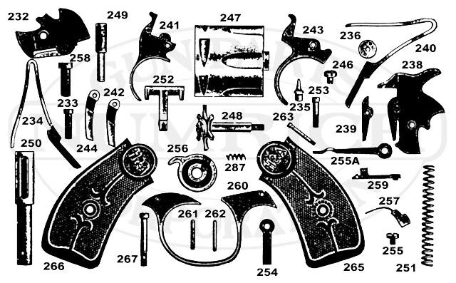 Hammer rev lar frame accessories numrich gun parts