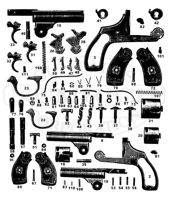 om saf hammer auto. accessories  numrich gun parts, schematic