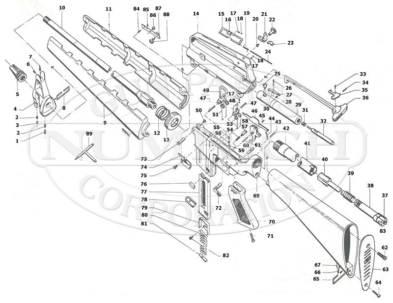 M16 Schematic | Numrich