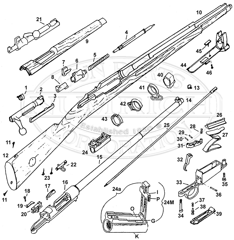 parts list  swed  accessories  numrich gun parts, schematic