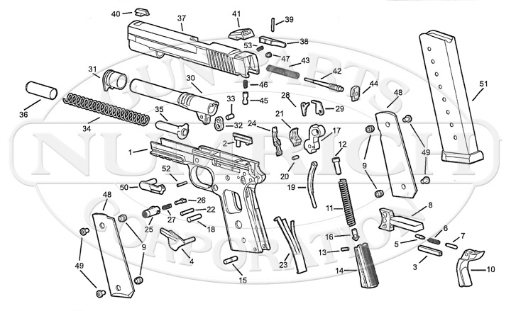 Kimber 1911 Parts Diagram Sig Sauer 1911 Parts Diagram