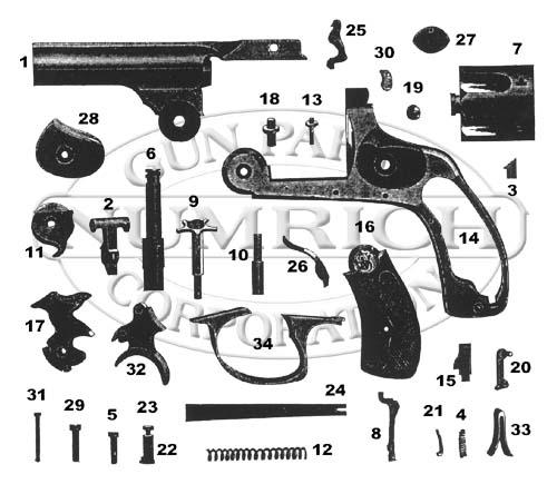 32 dbl act revolver accessories numrich gun parts : revolver parts diagram - findchart.co
