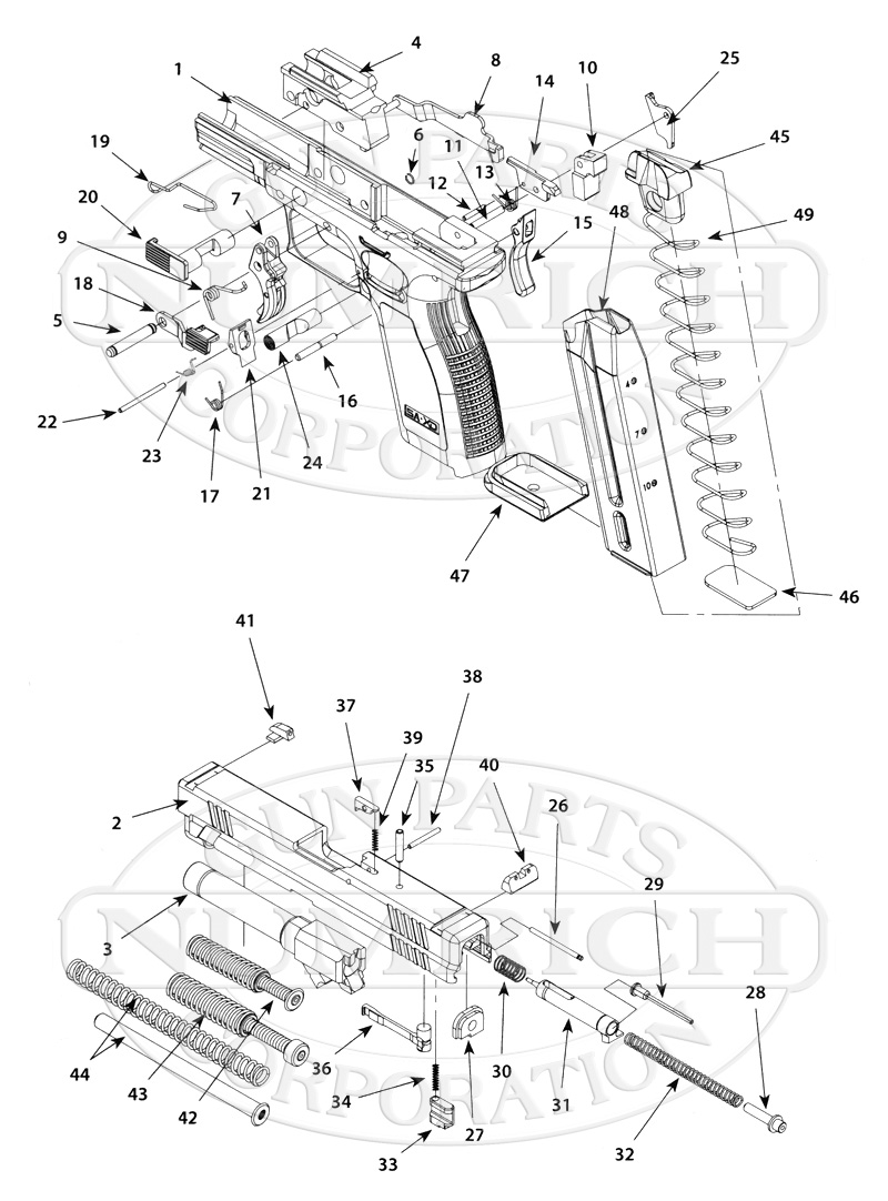 Springfield 1911 Pistol Parts Diagram Wiring Electricity Also With Colt Exploded Armory Gun Numrich Rh Gunpartscorp Com Schematic Blueprints
